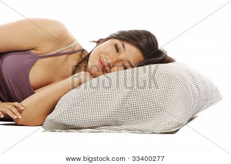Young Asian Woman Sleeping