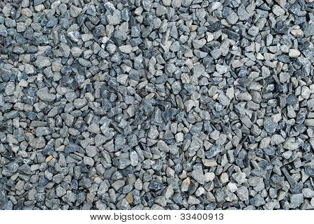 Gravel stone on the road