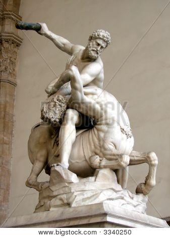 Statue des Herkules, die Tötung der Centaur