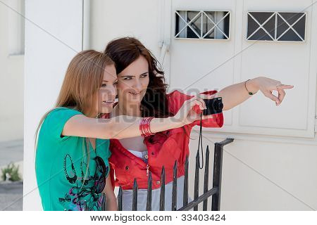 Two women tourists
