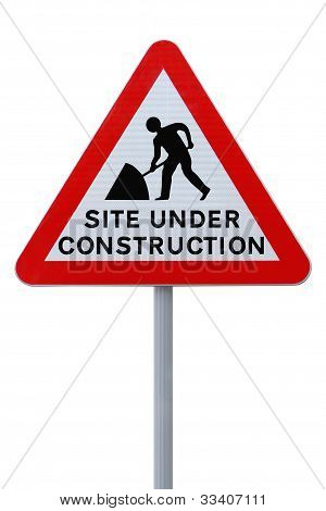 Site Under Construction (with clipping path)