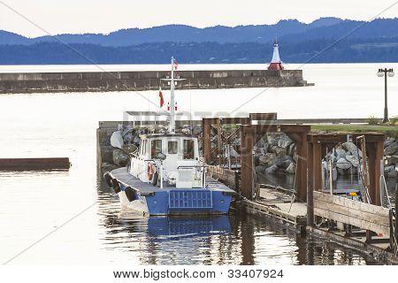 Pilot Boat At Dusk