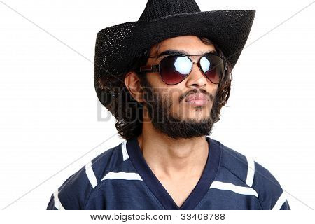 Young indian man portrait