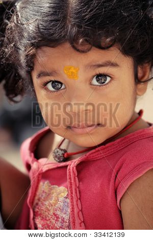 Cute Indian little girl.