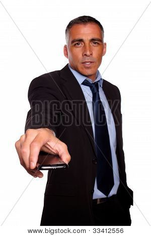 Charismatic Business Man With A Cellphone