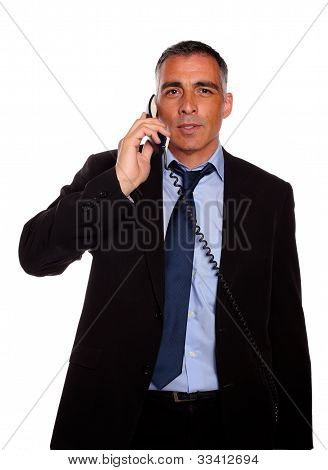 Business Man Conversing On Phone
