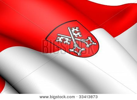 Flag Of Regensburg, Germany.