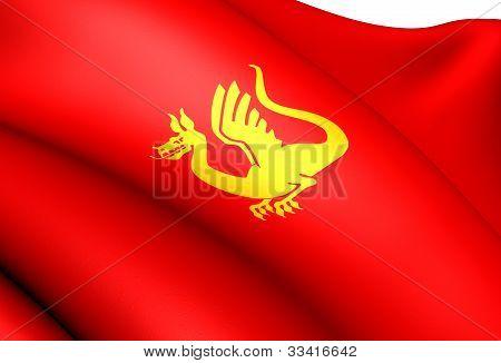 Flag Of Stjordal, Norway.