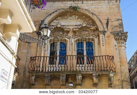 Guido palace. Lecce. Puglia. Italy.