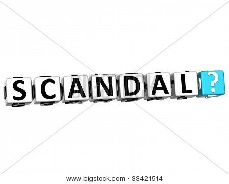 3D Scandal Button Click Here Block Text