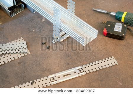 Parts For Installation Drywall And Tools