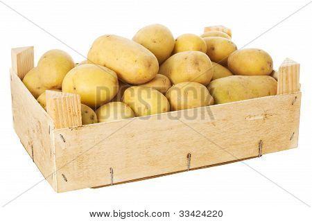 Box mit Kartoffeln