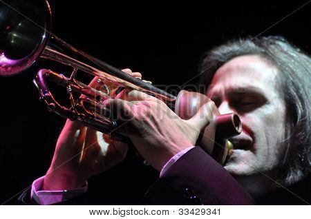 Trumpetist On The Stage