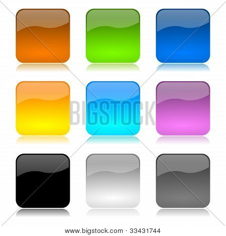 Colored App Buttons Set