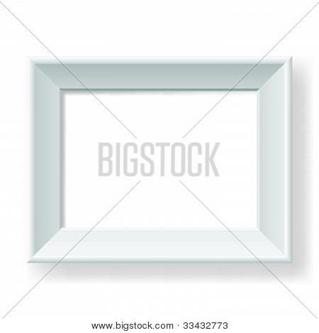 Realistic white frame.