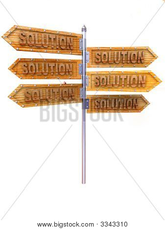 Blank Arrows Directions. Solutiion