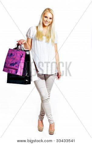 Portrait Of Young Woman Shopper