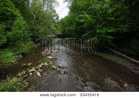 Babbling Brook Feeds into Delaware River