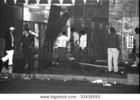 Looting on Broadway.