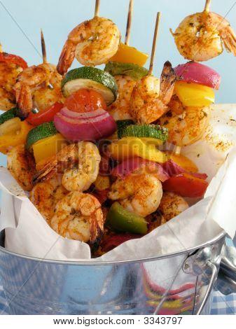 Shrimp Kebab Skewers