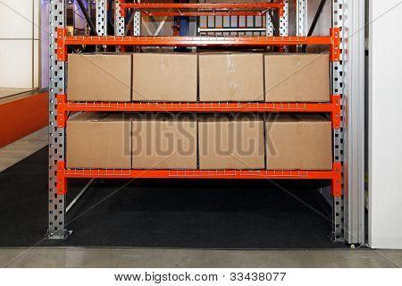 Boxes In Shelf