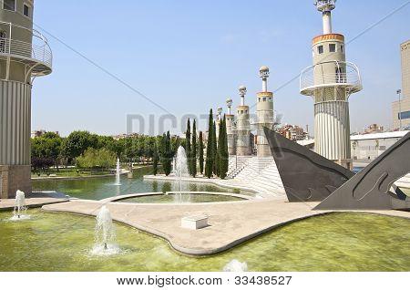 Parc de L'Espanya in Barcelona Industrie