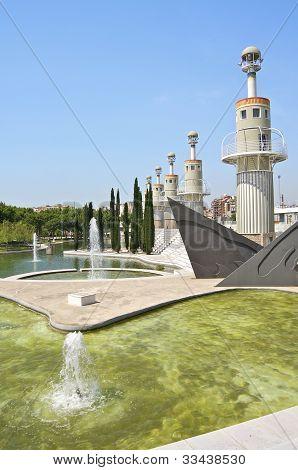 Parc de L'Espanya Industrial in Barcelona