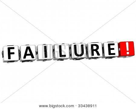 3D Failure Button Click Here Block Text