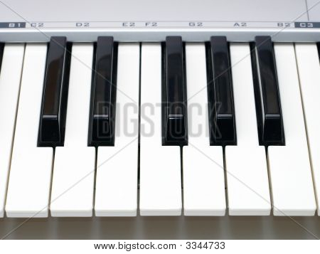 One Octave Of Midi Keyboard