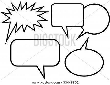 Simple Cartoon Blank Word Balloons