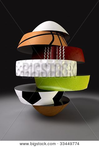 Segmented Fragmenting Sports Ball