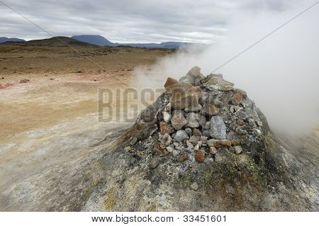 Volcanic Fumarole In Iceland