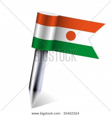 Vector Niger Flag Isolated On White. Eps10