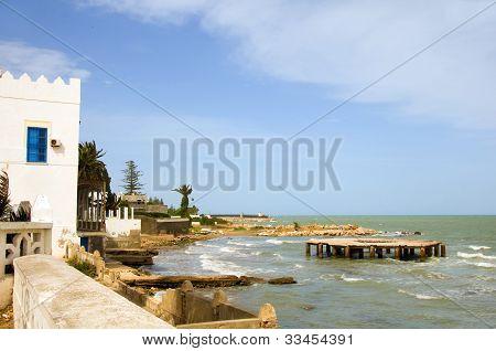Mediterranean Sea Beach Carthage Tunisia Africa