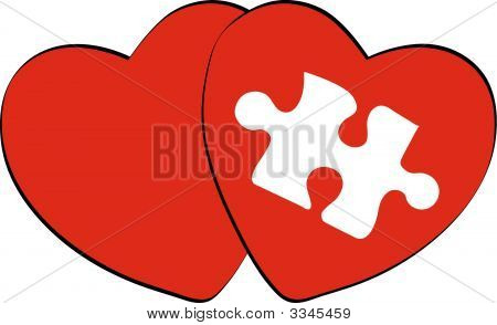 Hearts With Missing Puzzle Piece