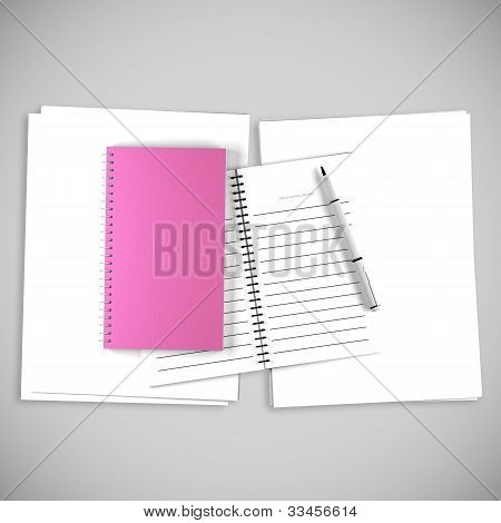 Blank Pink Organize Book For Write