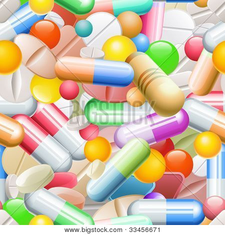 Pills Seamless Pattern