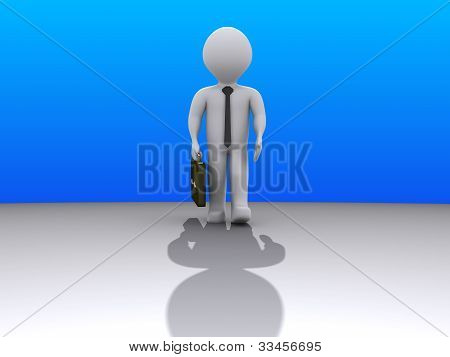 Businessman Coming From Afar