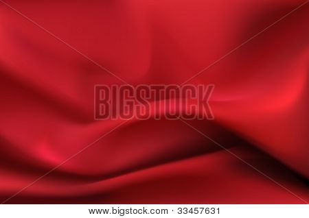 Red Silk Drape