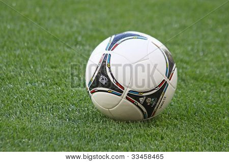 Official Uefa Euro 2012 Ball On The Grass