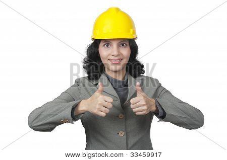 Arquitecto mujer de éxito