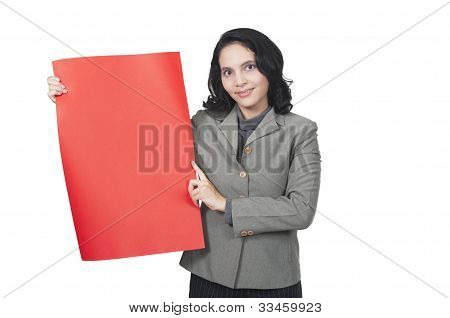 Show Blank Red Paper