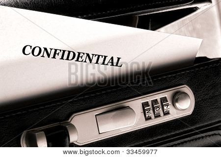 Confidential Classified Document In Briefcase