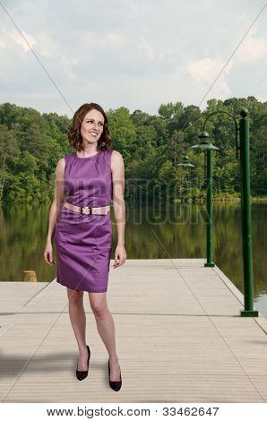 Beautiful Woman In A Mod Dress