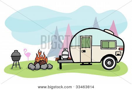 Camper Illustration