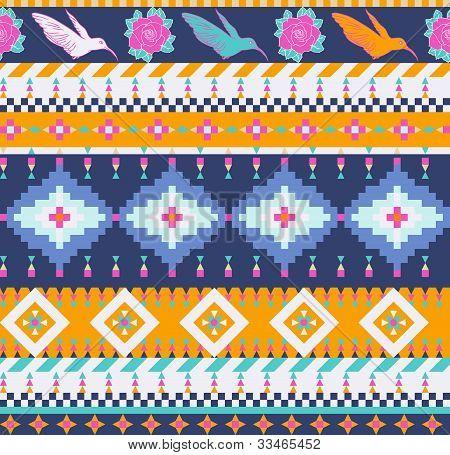 Azteken nahtlose Muster