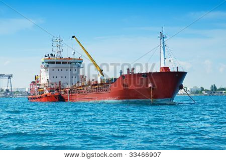 Barge in the port