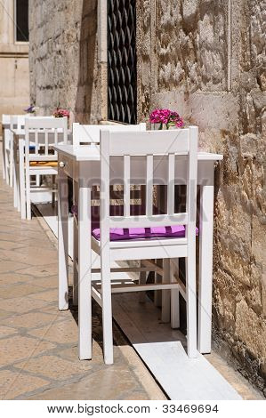 Summer Cafe, Tables And Chairs Outdoor