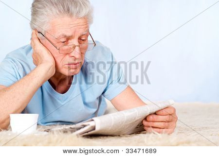 Old Man With Newspaper