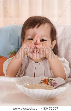 Little Girl Playing Ape